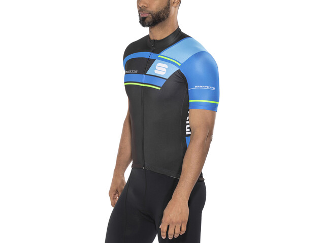 Sportful Gruppetto Pro Team Jersey Heren, black/electric blue/blue/green